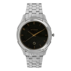 Titan Steel Analog with Date Watch For Men-NE1558SM02