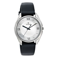 Titan Analog Silver Dial Watch For Men-NE1578SL01