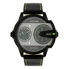 Titan Purple Analog with Day & Date Watch For Men-NE1608NL01