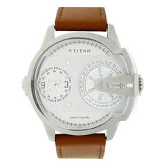 Titan Purple Analog with Day & Date Watch For Men-NE1608SL01