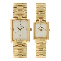 Titan Bandhan Analog with Date Watch For Pair-NE19402940YM01