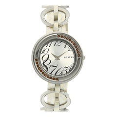 Titan White Dial Analog Watch For Women-NE2502SL01