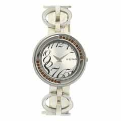 Titan White Dial Analog Watch For Women-NE2502SL01