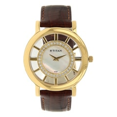 Titan Mother Of Pearl Dial Analog Watch for Women-NE9929YL01J