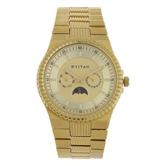 Titan Champagne Dial Analog Watch For Men-NF1532YM02