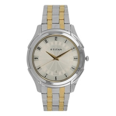 Titan Silver Dial Analog Watch For Men-NF1558BM03