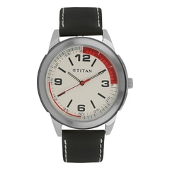 Titan Silver White Dial Analog Watches for Men