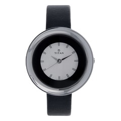 Titan Silver Dial Analog Watch For Women-NF2482SL02