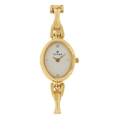 Titan White Dial Analog Watch For Women-NF340YM01