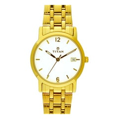 Titan White Dial Analog Watch for Men