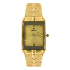 Titan Gold Dial Watch for Men-NF9151YM03J