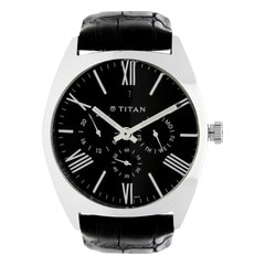 Titan Classique Black Dial Analog Watch for Men