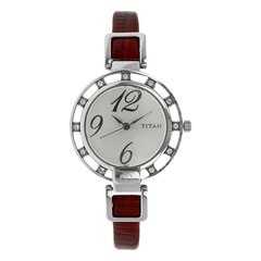 Titan Silver Dial Analog Watch For Women-NF9924SL02J