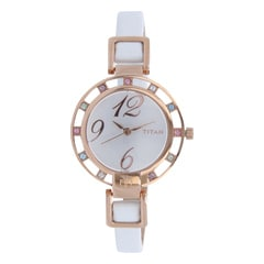 Titan Silver Dial Analog Watch For Women-NF9924WL01J