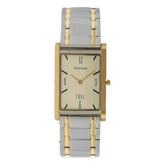 Titan Edge Champagne Dial Analog Watch for Men-NG1043BM01