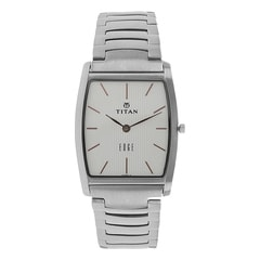 Titan Edge Silver White Dial Analog Watch for Men
