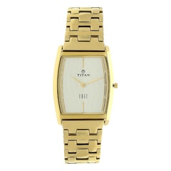 Titan Edge Champagne Dial Analog Watch for Men