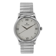 Titan Silver-White Dial Analog Watch for Men