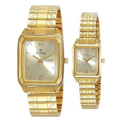 Titan Champagne Dial Analog Watch For Pair-NF15812488YM05