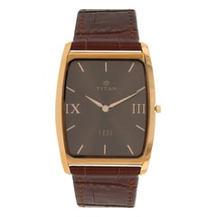 Titan Edge Brown Dial Analog Watch for Men