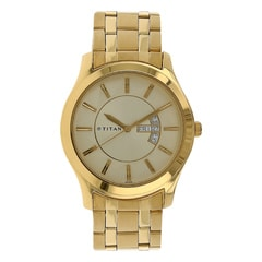 Titan Regallia Champagne Dial Analog With Date & Day For Men