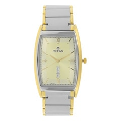 Titan Champagne Dial Analog Watch For Men