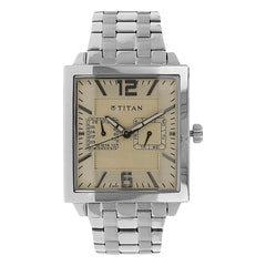 Titan Beige Dial Analog Watch for Men