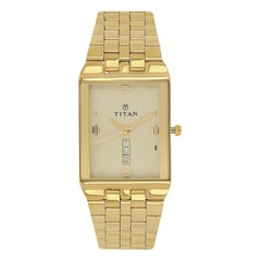 Titan Champagne Dial Analog Watch For Men-NC1918YM13