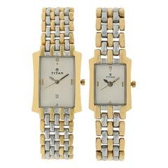 Titan White Dial Analog Watch for Pair - NF19272927BM01