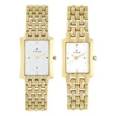 Titan Silver Dial Analog Watch For Pair-NF19272927YM01