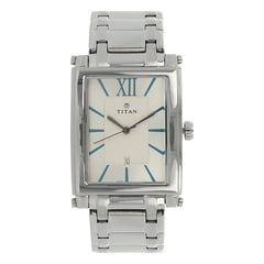 Titan Silver Dial Analog Watch for Men - NF9327SM1A