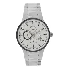 Titan White Dial Multifunction Watches for Men