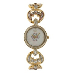 Titan Raga Moonlight Studded Bezel Gold Strap Analog Watch for Women