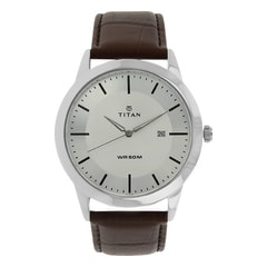 Titan Leather Strap Watch for Men