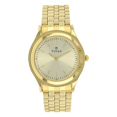 Titan Karishma Champagne Dial Analog Watch for Men