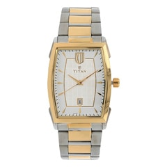 Titan Regalia Regal Crest Silver White Dial Analog Watch for Men