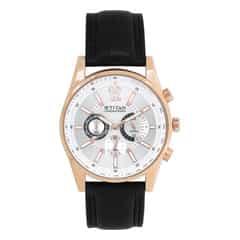 Titan Silver Dial Chronograph Watch for Men