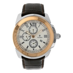 Titan Classique White Dial Analog Watch for Men