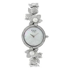 Titan Raga Aurora Mother of Pearl Dial Analog Watch for Women