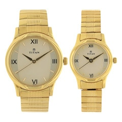 Champagne Dial Metal Strap Watch