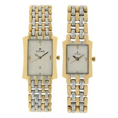 Titan White dial Analog Watch for Pair