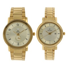 Titan Light Champagne dial Analog Watch for Pair