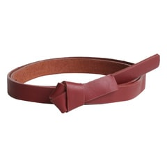 Titan Red Knotted Leather Belt For Women-TB100LW1RDL