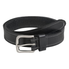 Titan Black Leather Belt For Men-TB108LM1BKS