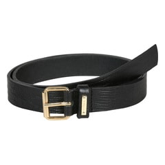 Titan Black Snake Print Leather Belt for Women