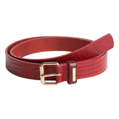 Titan Red Leather Snake Skin Belt For Women-TB108LW1RDL