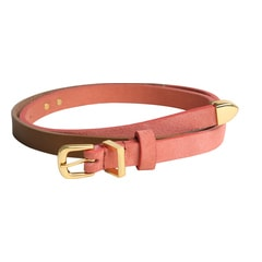 Titan Red And Brown Suede Leather Belt For Women-TB109LW1RSM