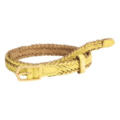 Titan Yellow Woven Belt For Women-TB111LW1YLL