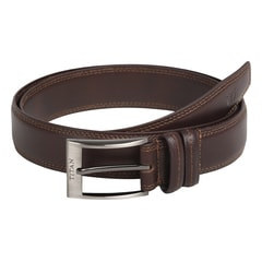 Titan Brown Leather Belt for Men Brown