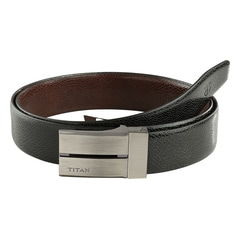 Titan Black And Brown Leather Belt For Men-TB160LM1R2M